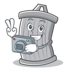 photography trash character cartoon style vector image vector image