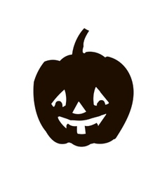 Pumpkin silhouette icon of the day halloween vector