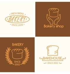 Set of for bakery vector image