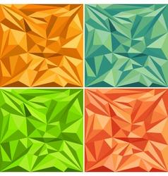 Set of polygonal pattern backgrounds vector