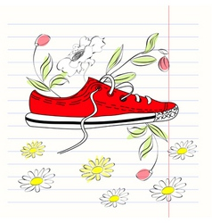 shoe illustration vector image