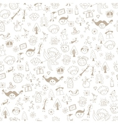 Simple Christmas icon seamless pattern vector image