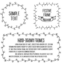 Sketchy frames black and white vector