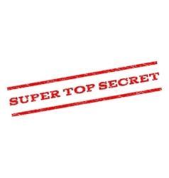 Super top secret watermark stamp vector