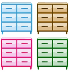 Tables with drawers vector image vector image