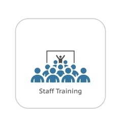 Training Icon Flat Design vector image vector image