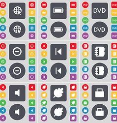 Web cursor battery dvd minus media skip notebook vector
