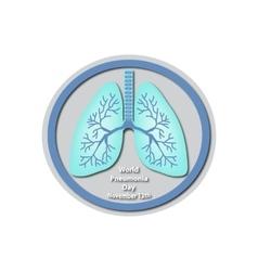 World pneumonia day - november 12 lungs baner vector