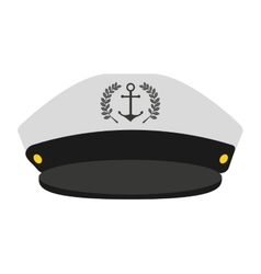 Captain sailor anchor hat vector