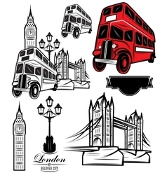 Templates london attractions and transport vector