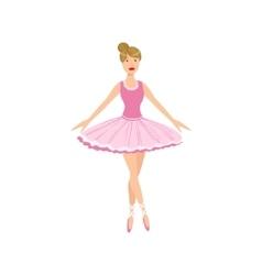 Balleria in pink tutu performing vector