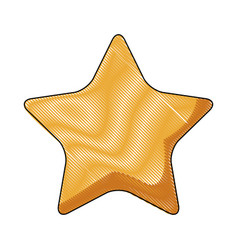 cartoon star celebration decoration element icon vector image