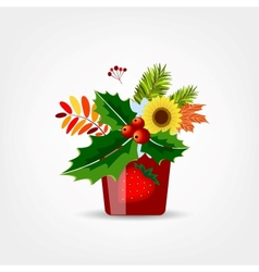 Floral pot isolated for your design vector