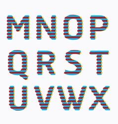 alphabet modern paper line colour concept style vector image