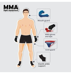 Sport equipment for mixed martial arts vector