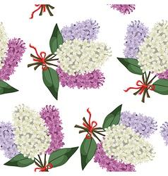 lilac bouquet pattern vector image