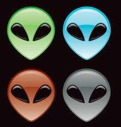 Alien icon vector