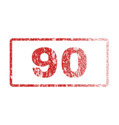 90 rubber stamp vector