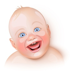 Cute baby is laughing vector image