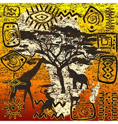 African symbols set vector image vector image