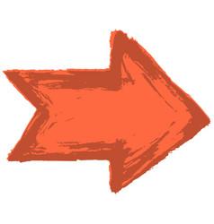 Arrow symbol watercolour style vector