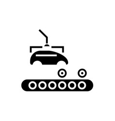 assembly car conveyor icon vector image vector image