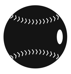 Baseball ball icon simple style vector