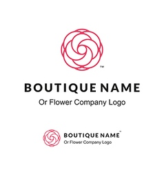 Beautiful Contour Logo with Flower for Boutique or vector image