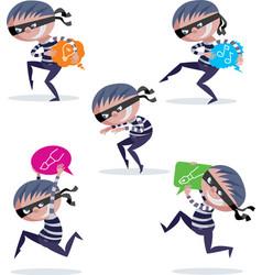 Burglar cartoons vector