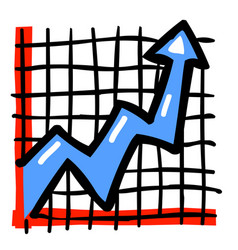Cartoon image of graph icon vector