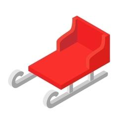 Christmas sleigh isometric icon vector