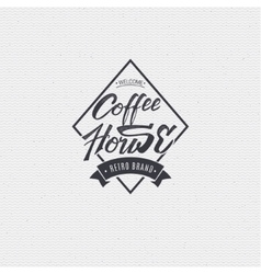 Coffee house - badge signboard can be used to vector