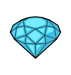 Diamond retro tattoo symbol cartoon old school vector