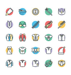 Fashion and Clothes Cool Icons 6 vector image