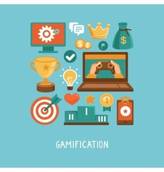 Flat concept - gamification vector