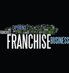 Franchise ideas what franchise is best for you vector
