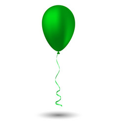 green balloon on white background vector image vector image