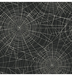 Halloween themed seamless pattern Spider web vector image vector image
