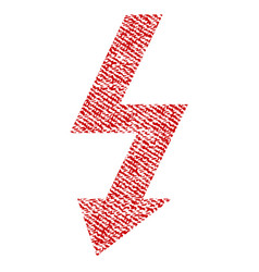 High voltage fabric textured icon vector