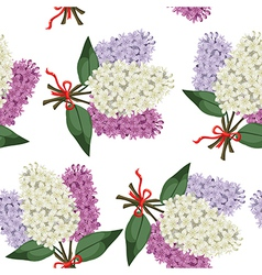 Lilac bouquet pattern vector