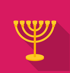 Menorah icon in flat style isolated on white vector