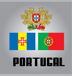 official government elements of portugal vector image