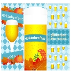 Oktoberfest 2016 vertical banners isolated on vector