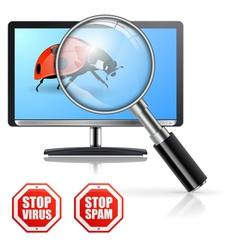 Protection from Viruses and Spam vector image
