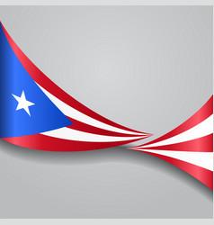 Puerto rican wavy flag vector