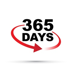 Red 365 days vector