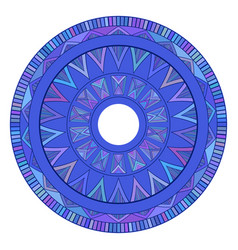 Round boho ornament native pattern element for vector