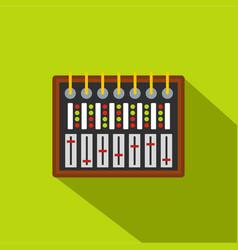 Studio sound mixer icon flat style vector