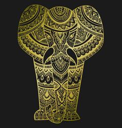 stylized head of an elephant ornamental portrait vector image