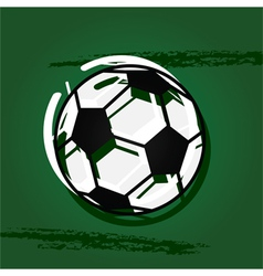 Stylized soccer ball vector image